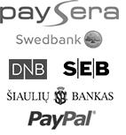 100% saugūs mokėjimai